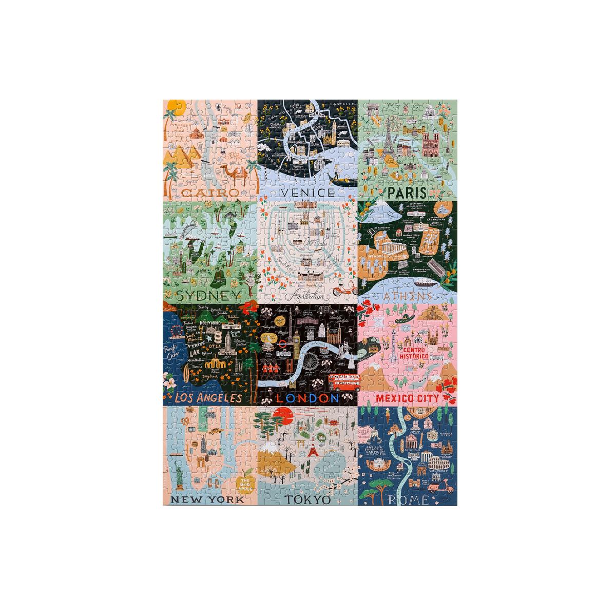 Puzzle 500 pièces maps
