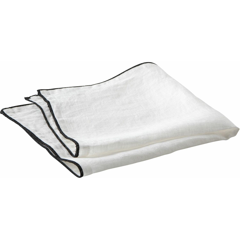 Serviette de table lin blanc 40x40 cm