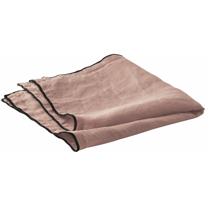 Serviette de table lin rose 40x40 cm