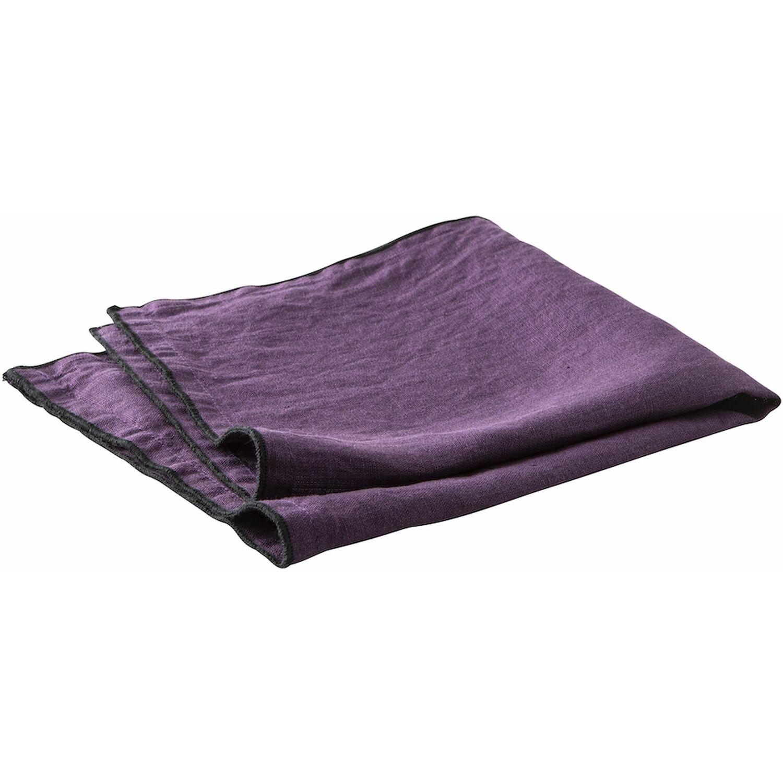 Serviette de table lin violet 40x40 cm