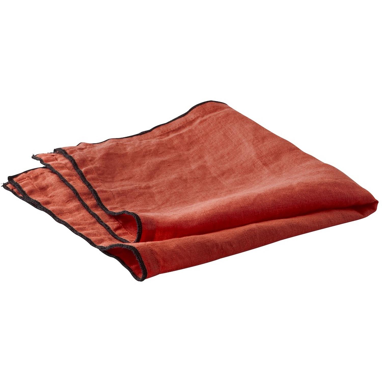 Serviette de table lin rouge 40x40 cm