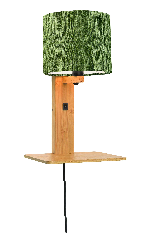 Applique bambou/lin avec tablette H36cm