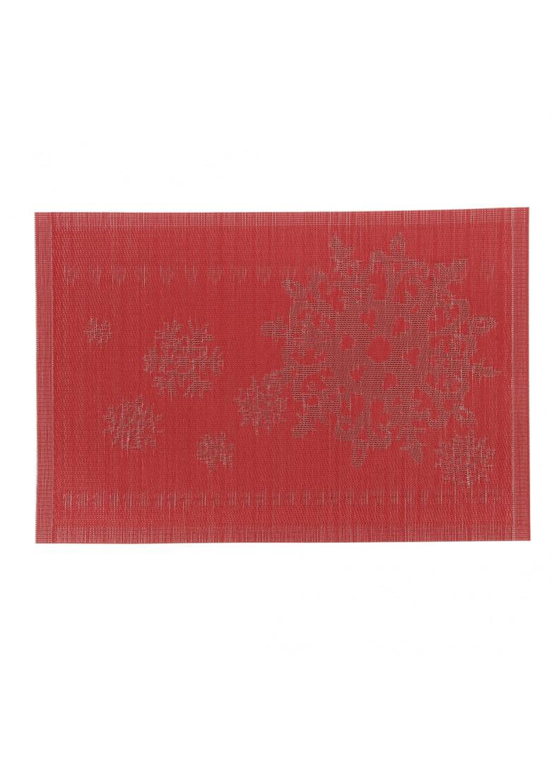 Set de table en PVC rouge 45x30