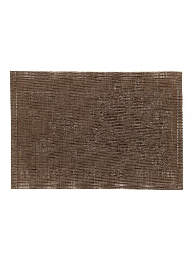 Set de table en PVC brun 45x30