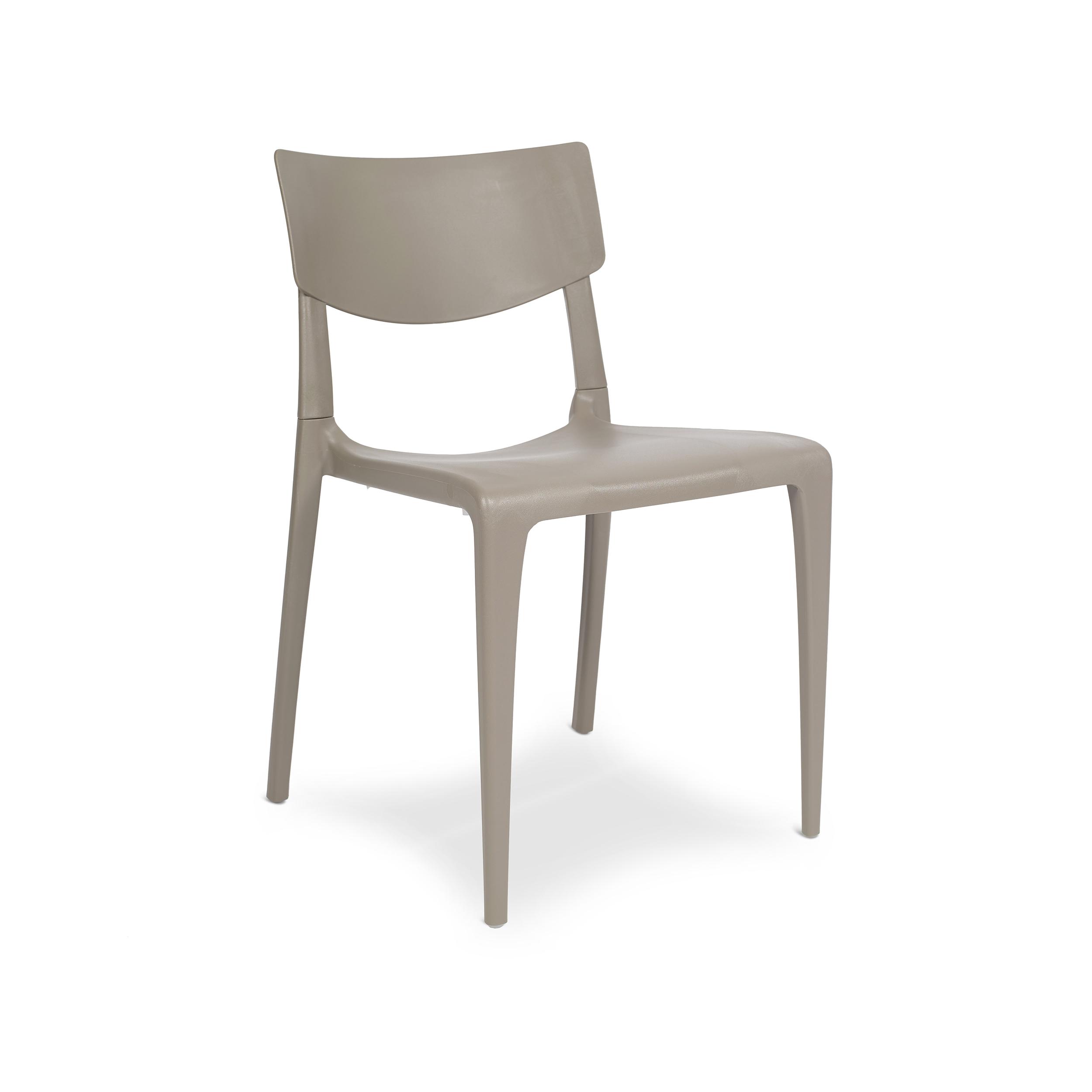 Chaise de jardin en polypropylène renforcé taupe