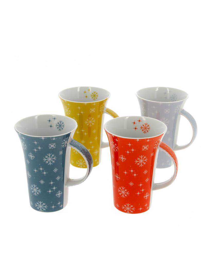 Set 4 mugs en céramique