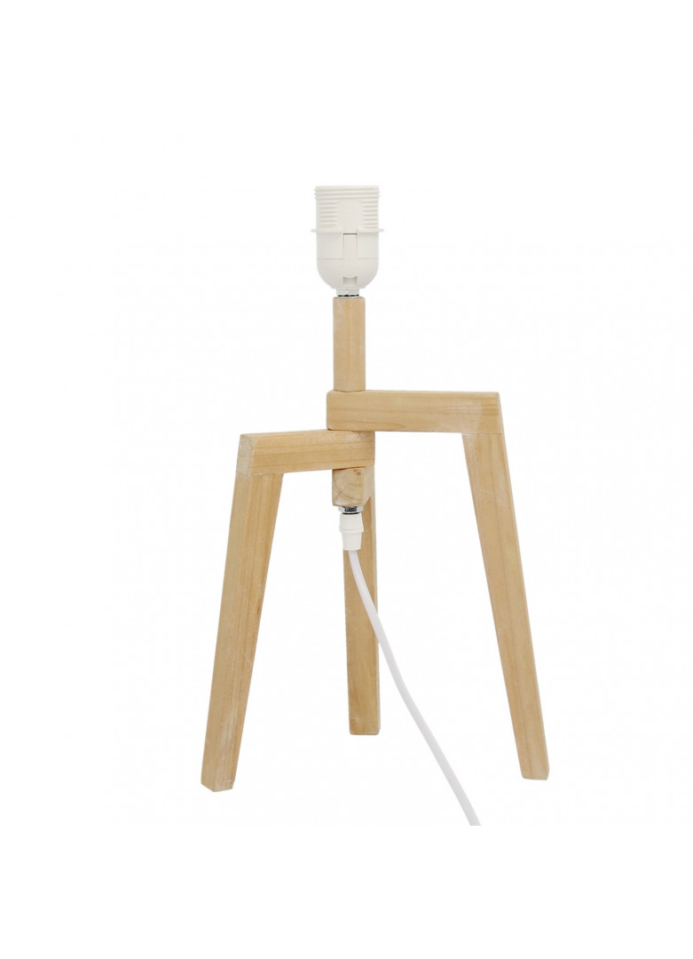 Pied de lampe en bois H27cm