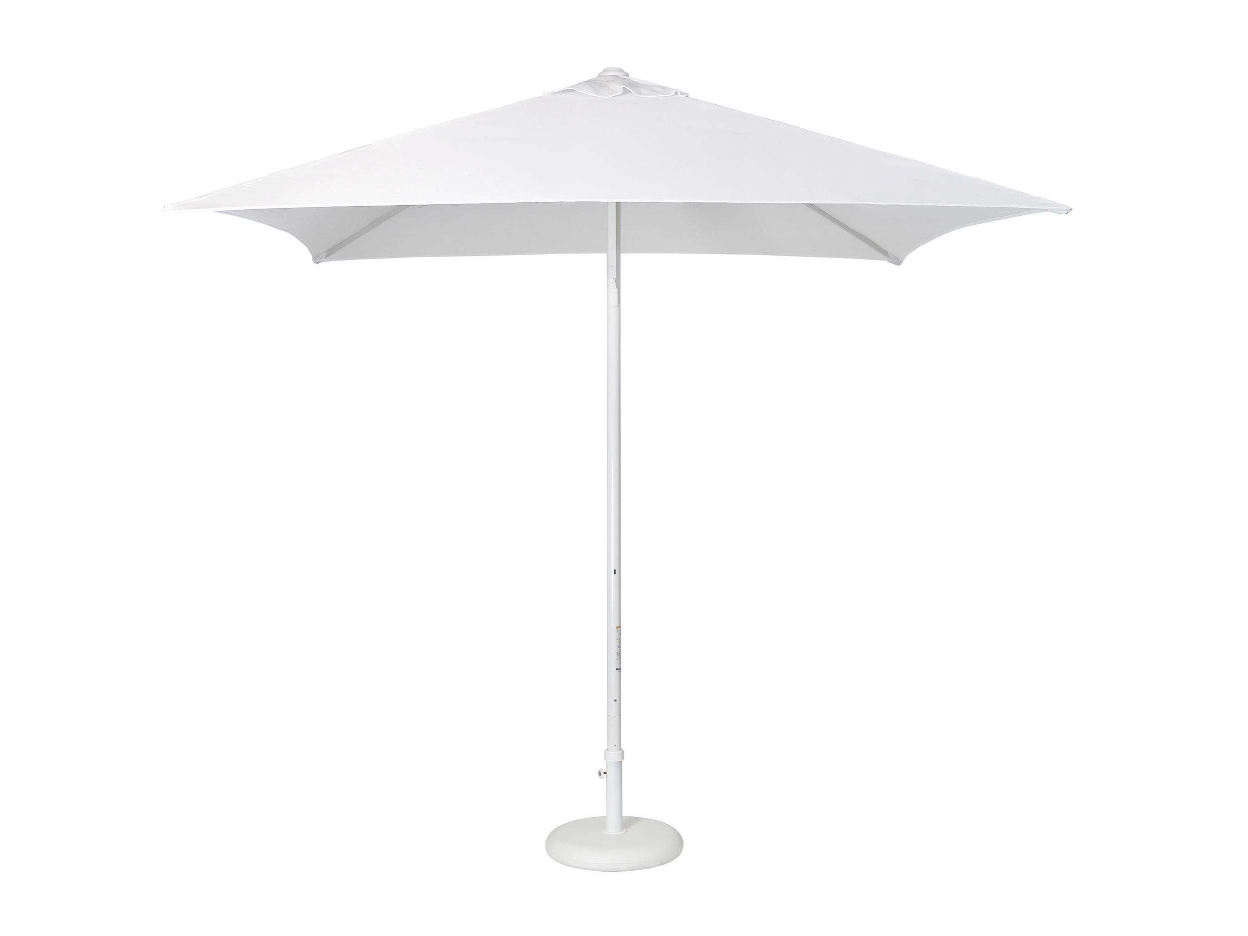 Parasol en aluminium laqué et toile PURETI® blanche