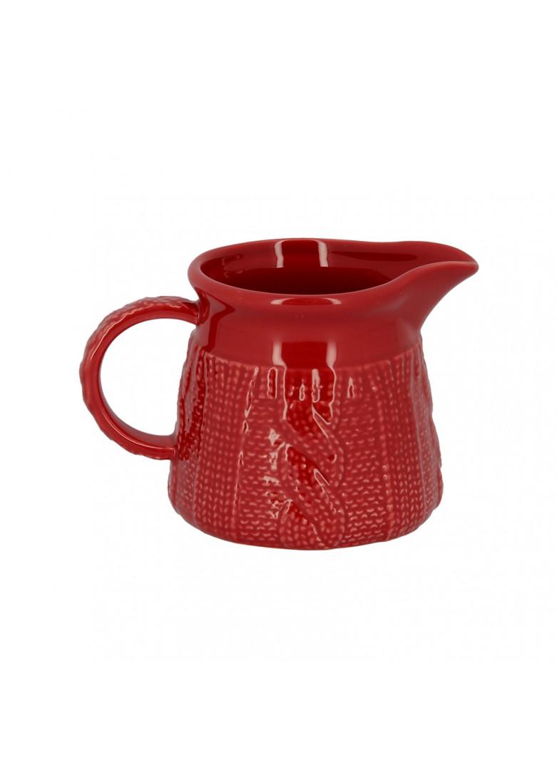 Crémier en céramique rouge