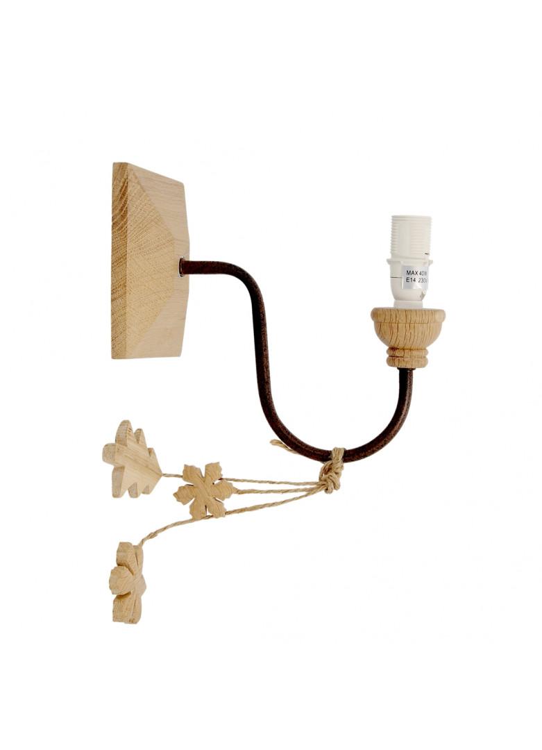 Applique carrée en bois D22cm