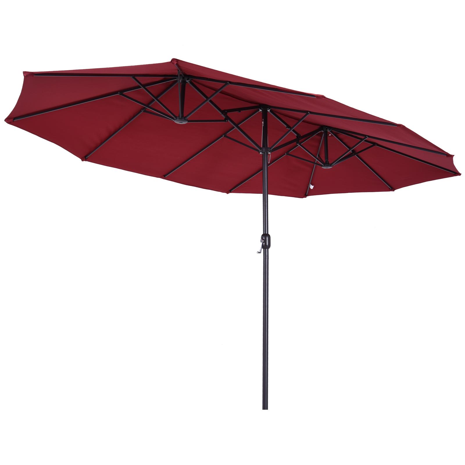 Grand parasol bordeaux