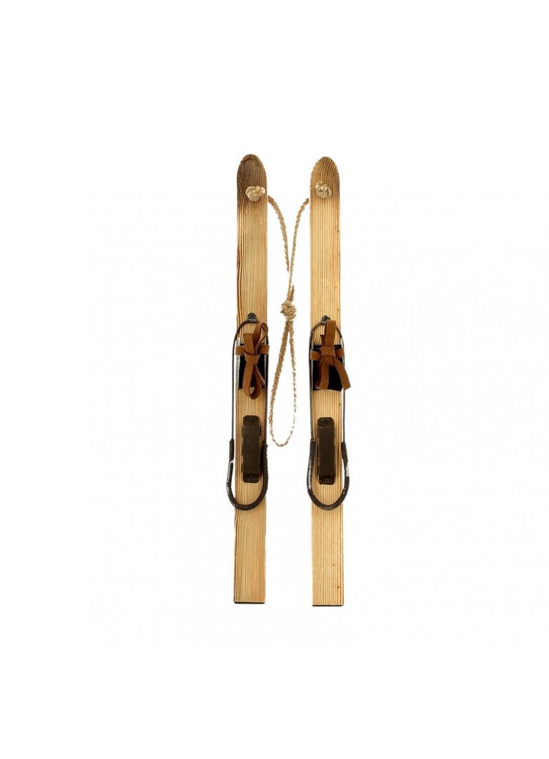 Paire skis bois à suspendre 50cm