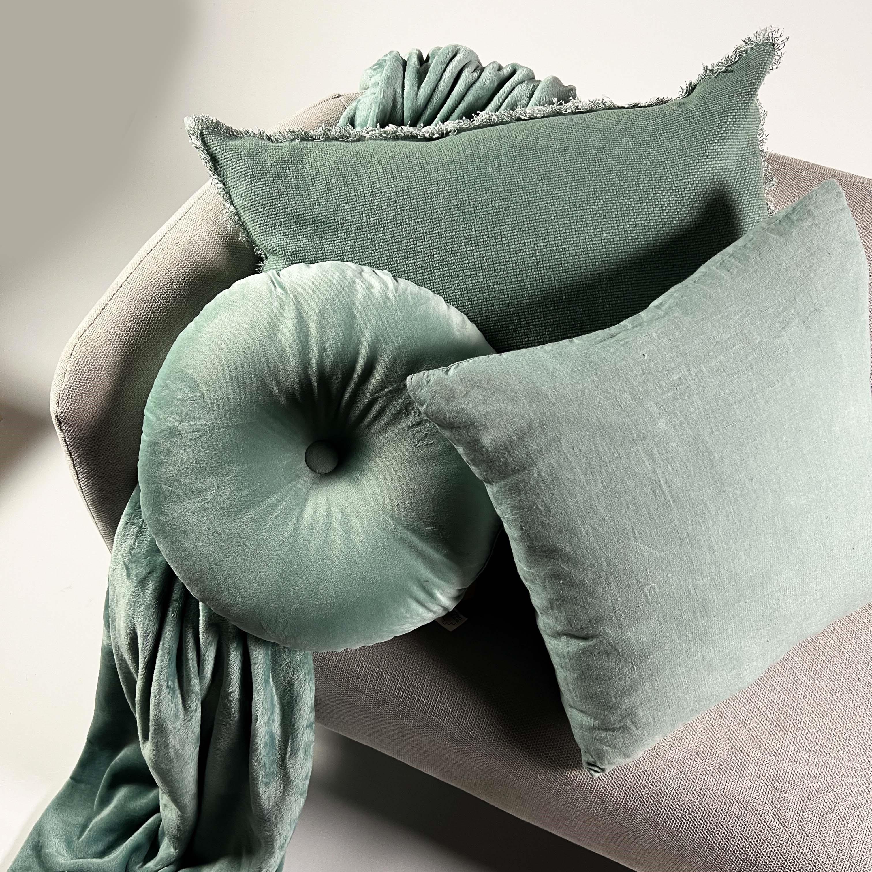 Plaid en polyester Jade 150x200