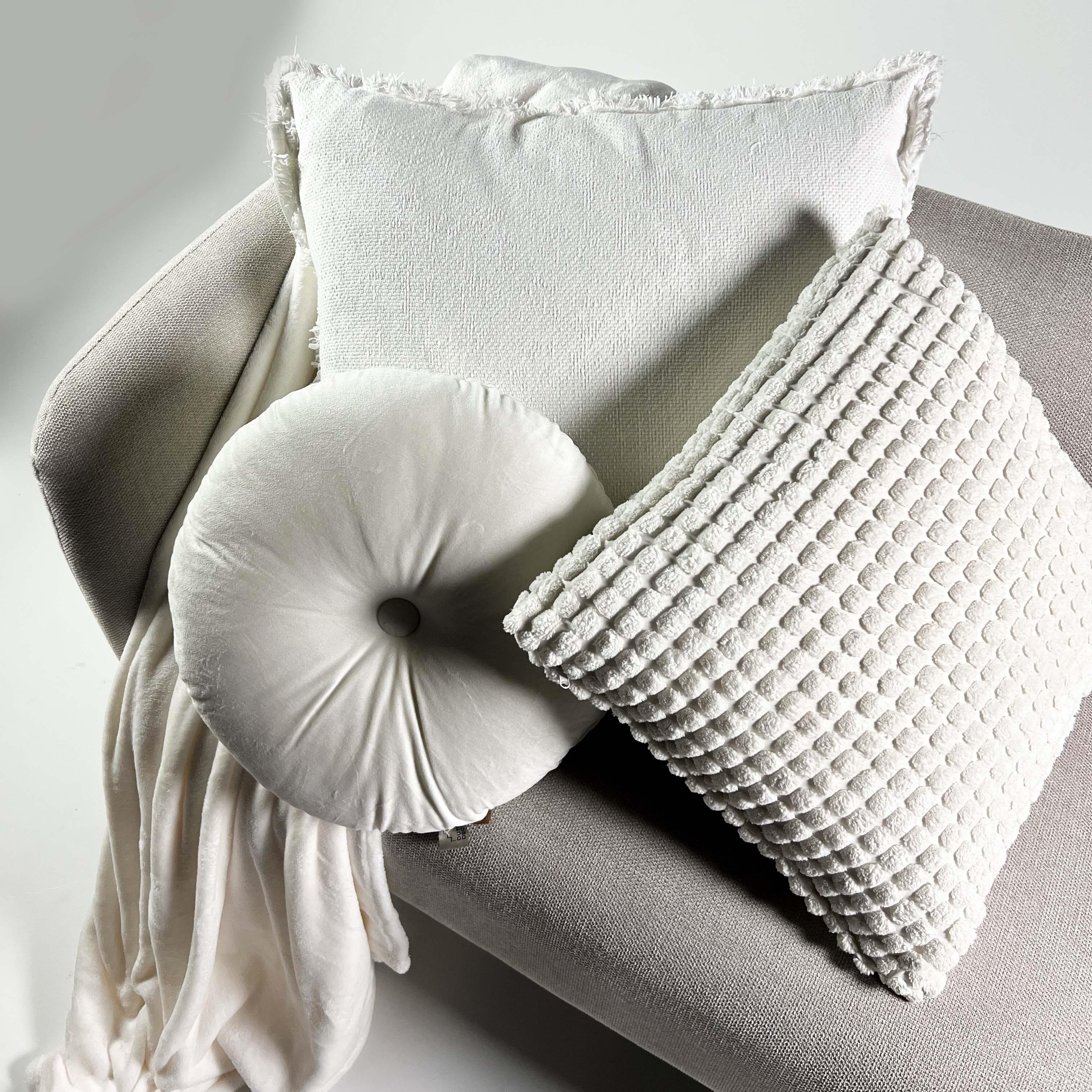 Plaid en polyester Blanc 150x200