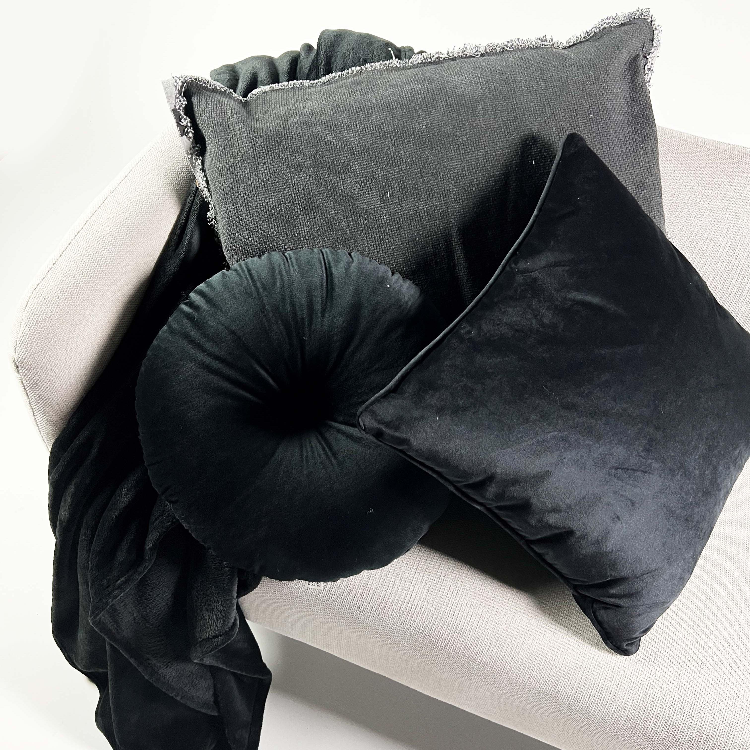 Plaid en polyester Noir 150x200