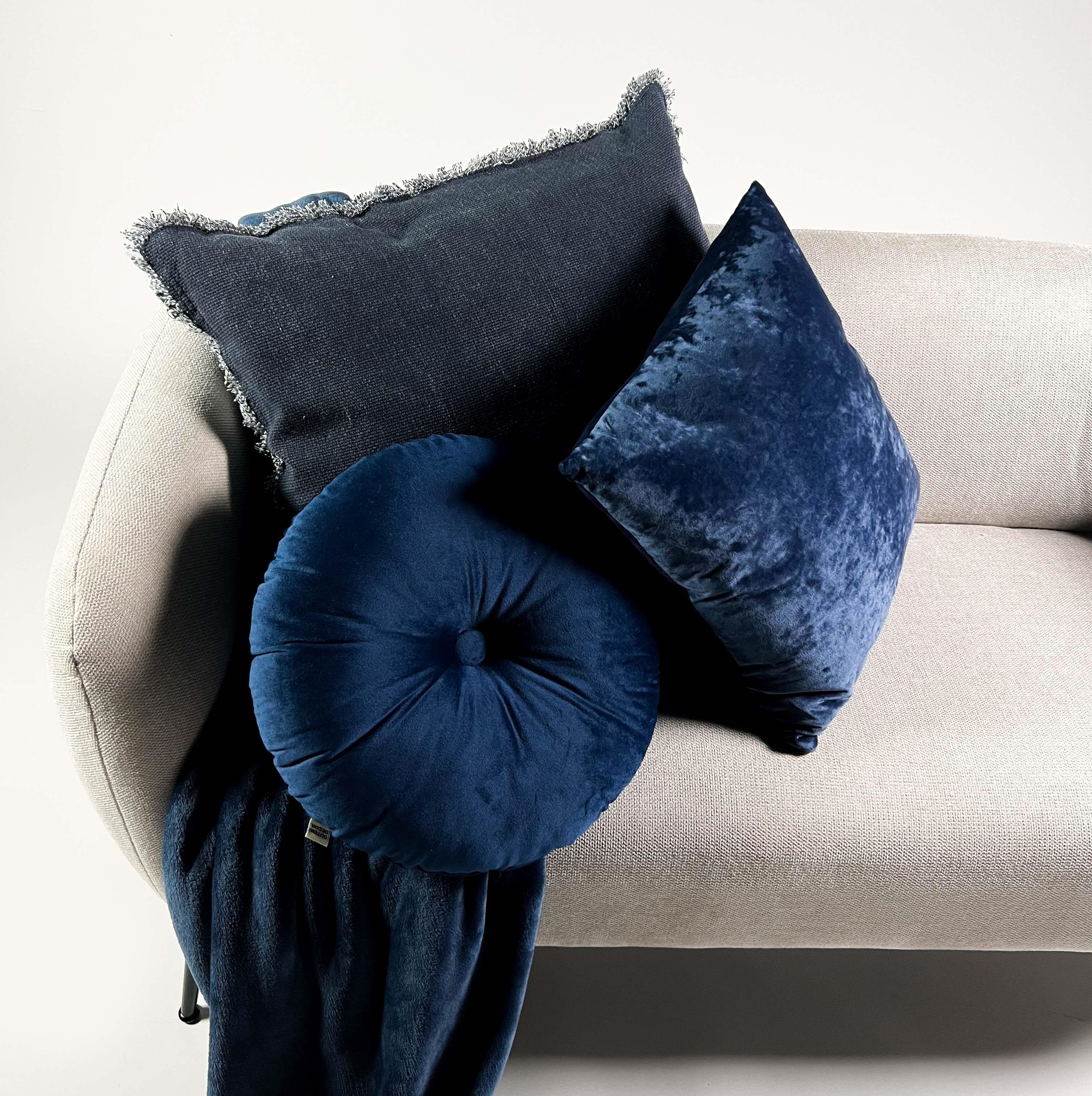 Plaid en polyester Bleu saphir 150x200