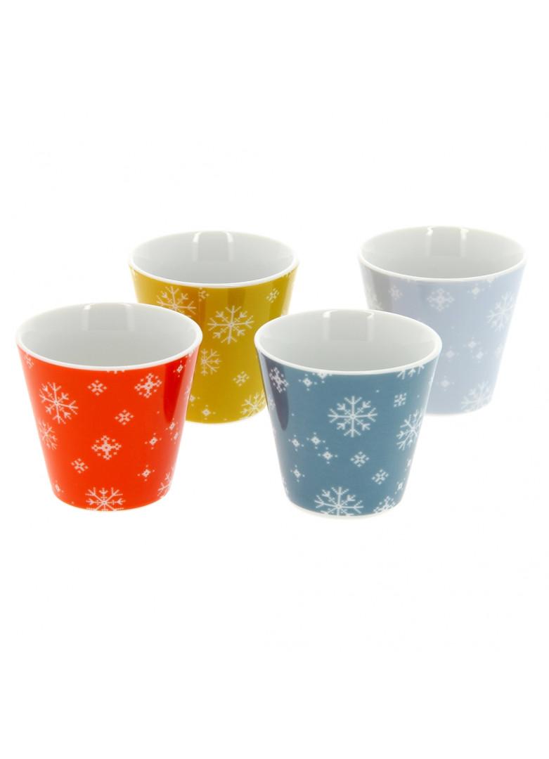 Set 4 mini mugs en céramique