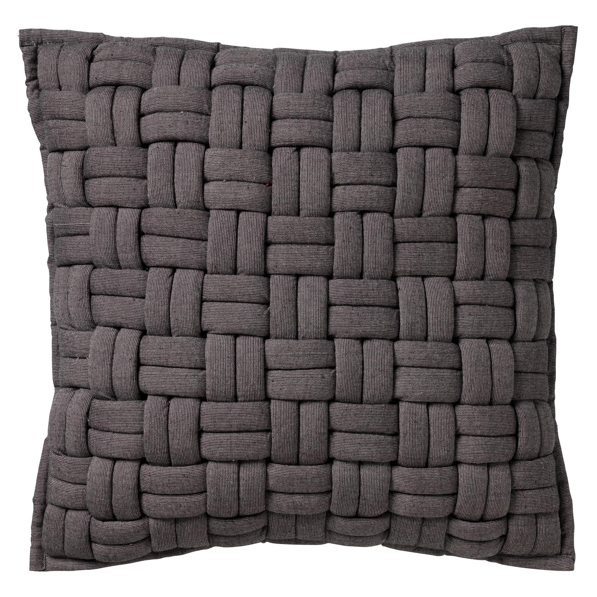 Coussin en coton Anthracite 45x45