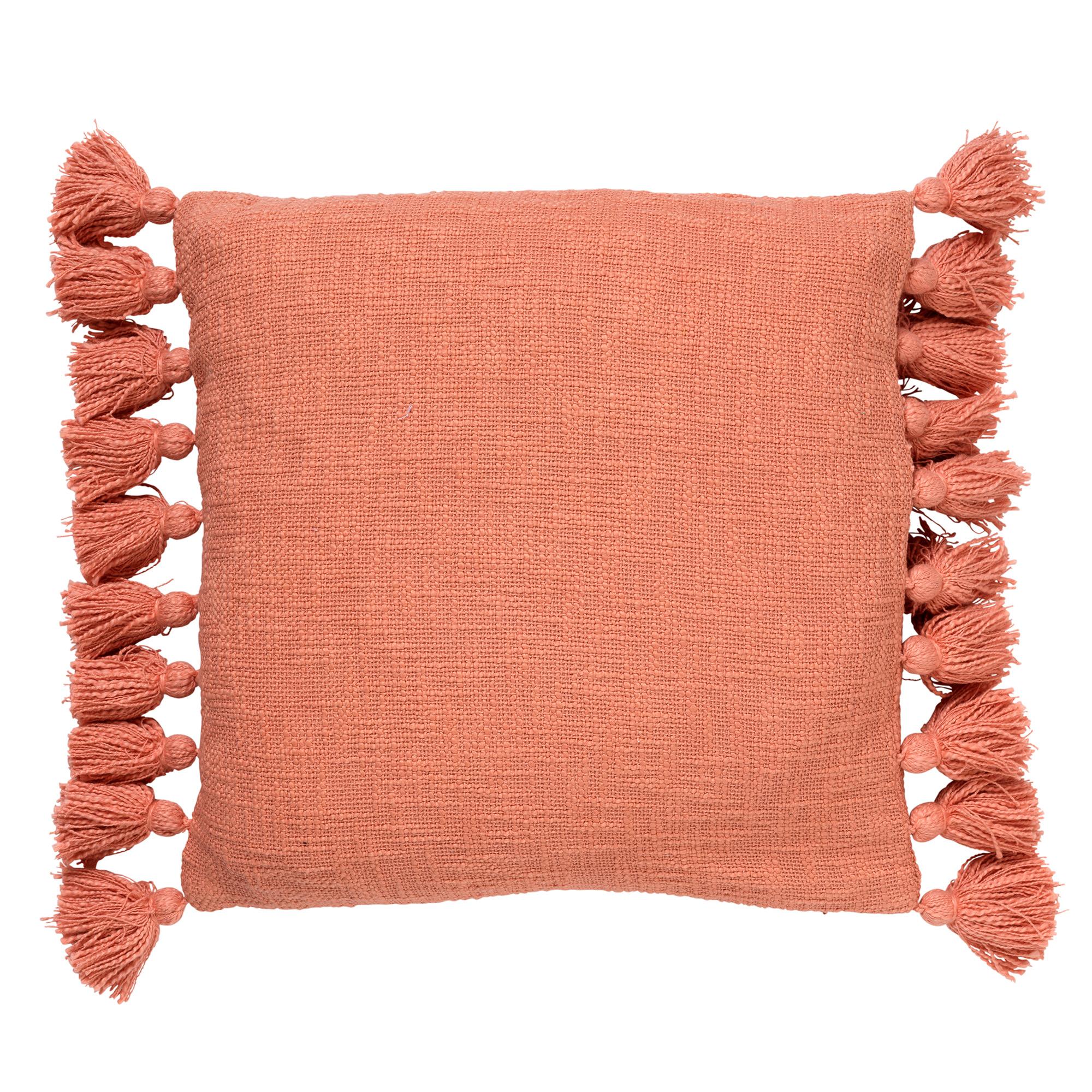 coussin en coton Corail 45x45