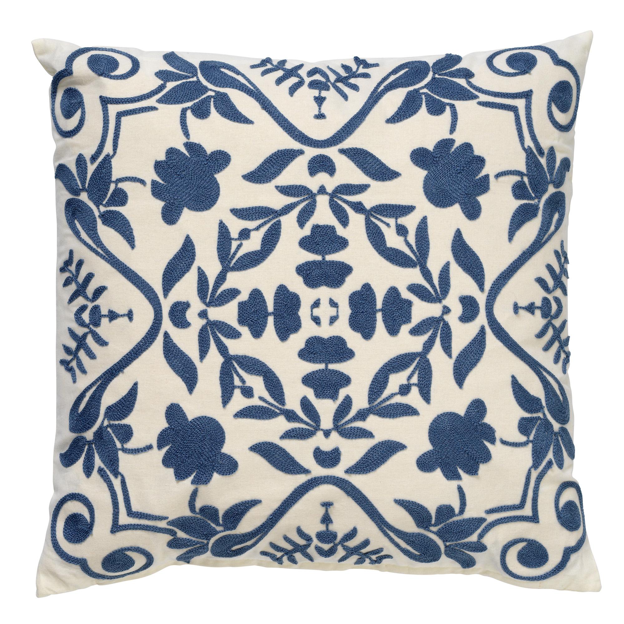 Coussin en coton Bleu 45x45