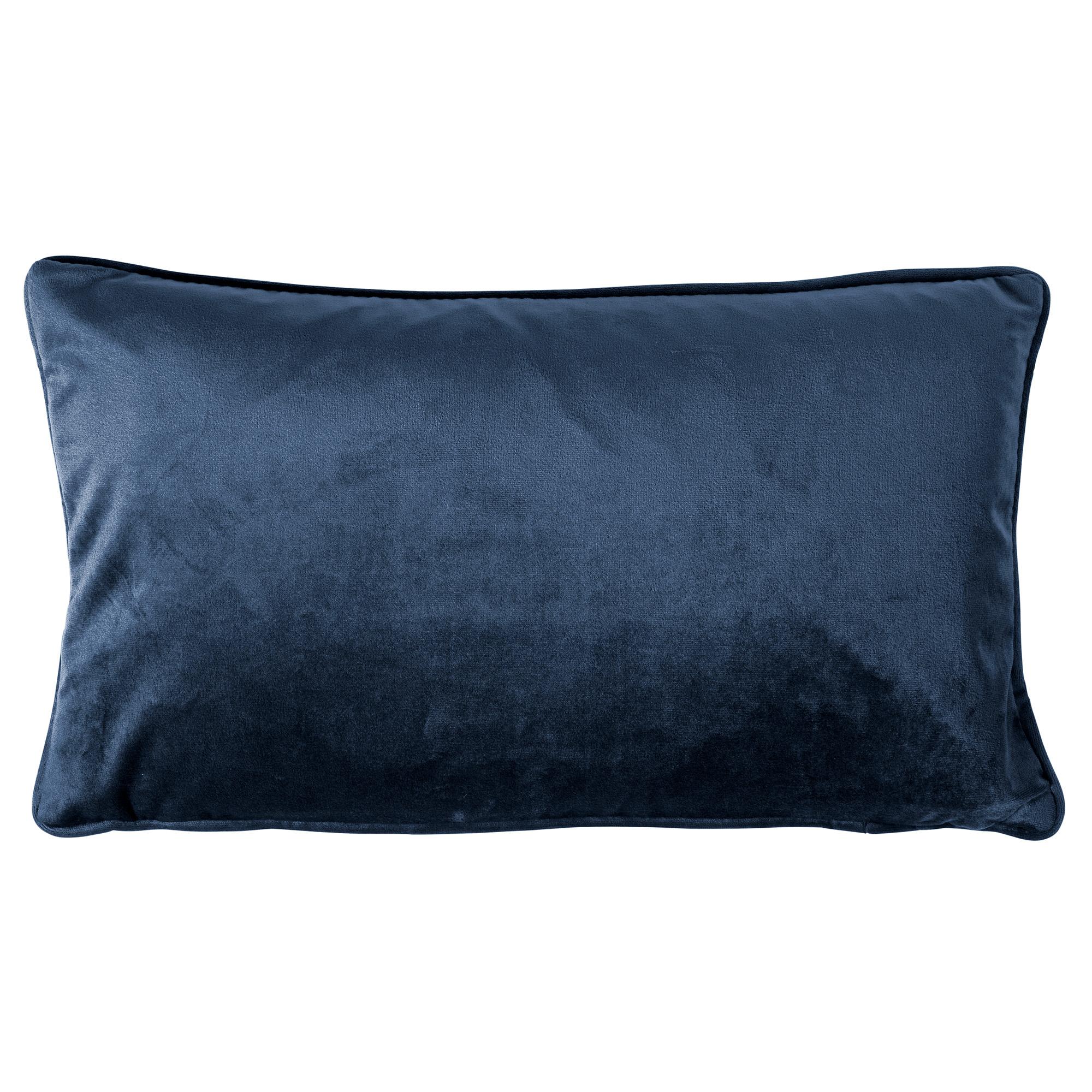 coussin en velours Bleu saphir 30x50