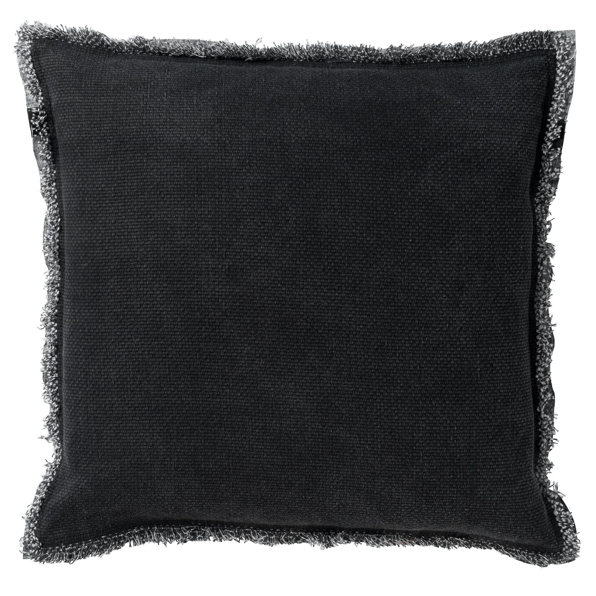 Housse de coussin en coton Noir 45x45