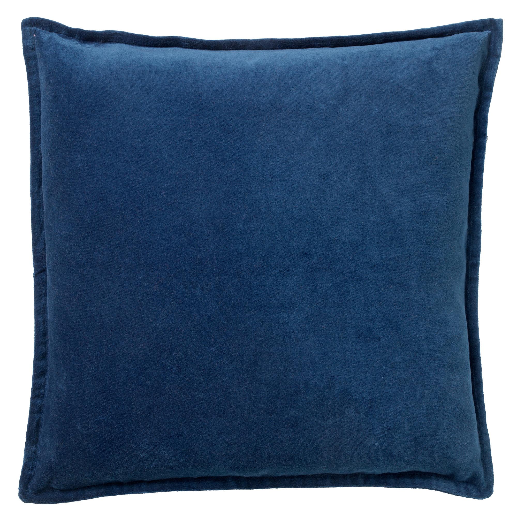 Housse de coussin en velours Bleu saphir 50x50