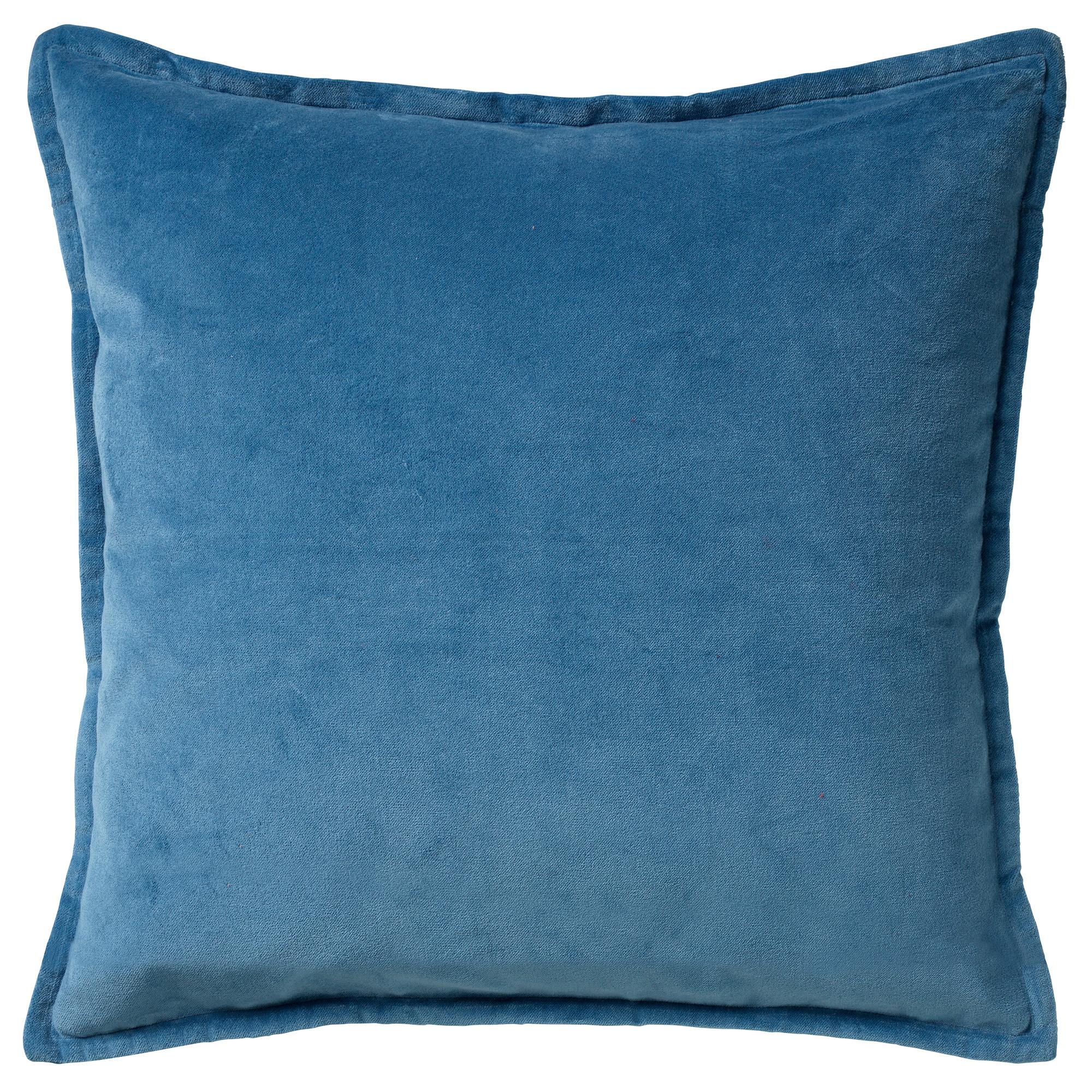 Housse de coussin en velours Bleu 50x50