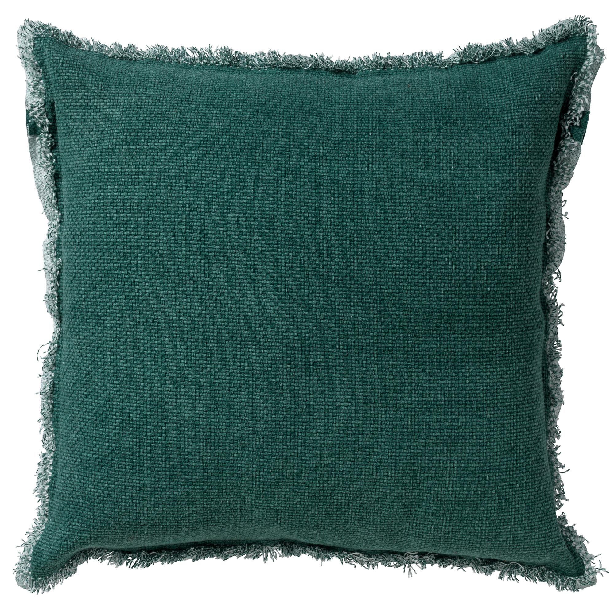 Housse de coussin en coton Vert pin 60x60