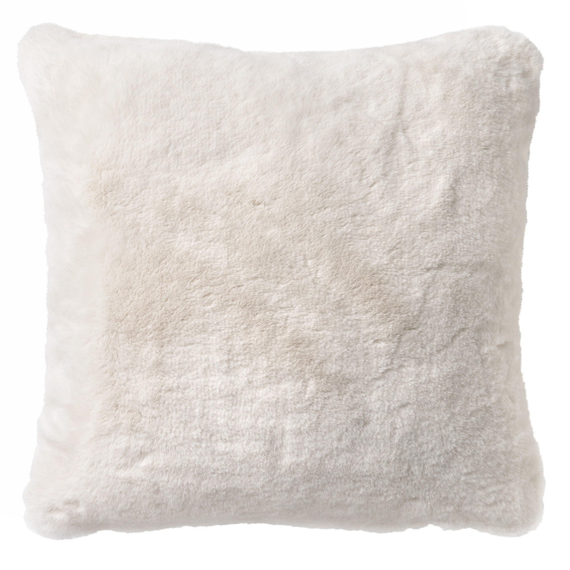 Housse de coussin avec imitation fourrure Blanc 45x45