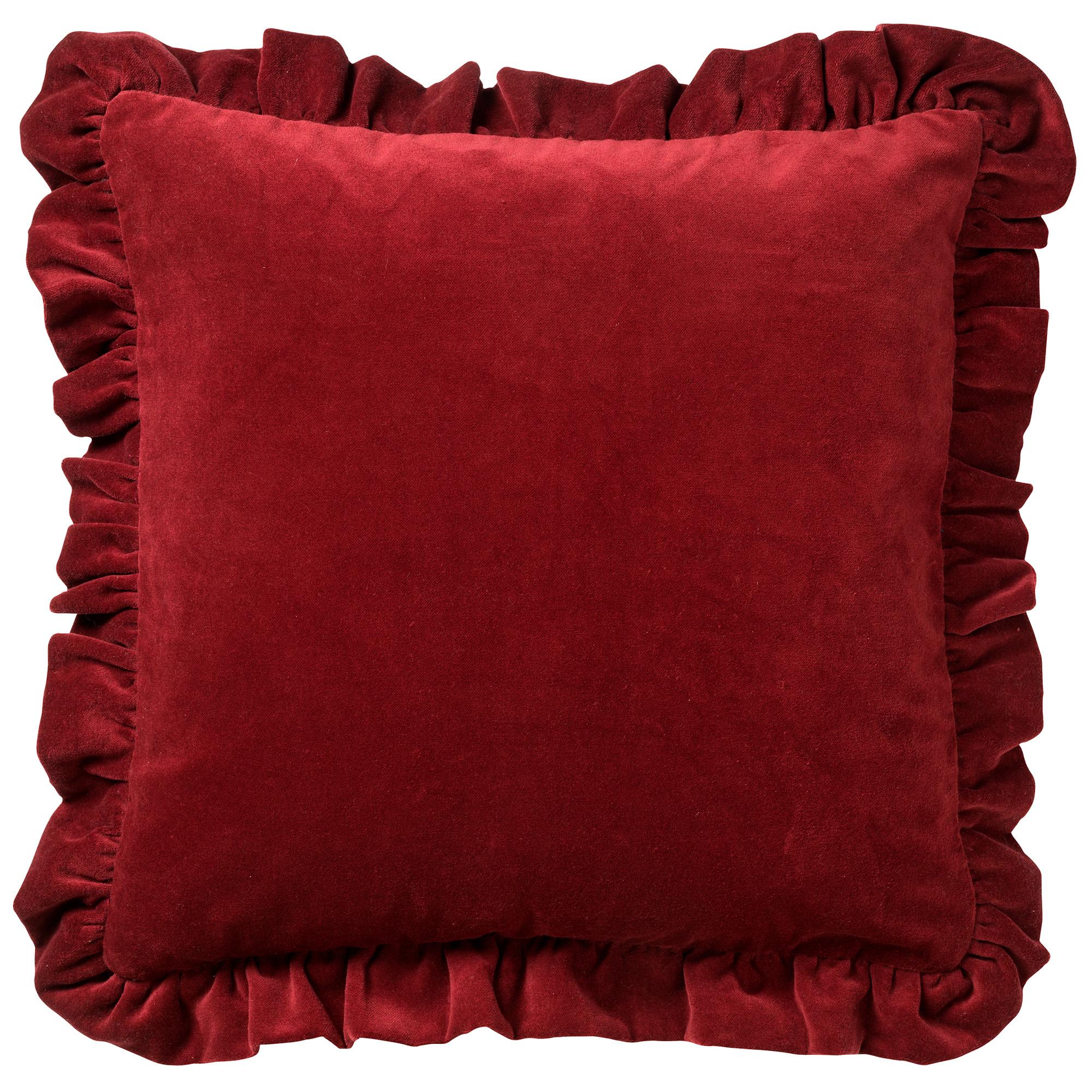 Housse de coussin en velours Rouge foncé 45x45