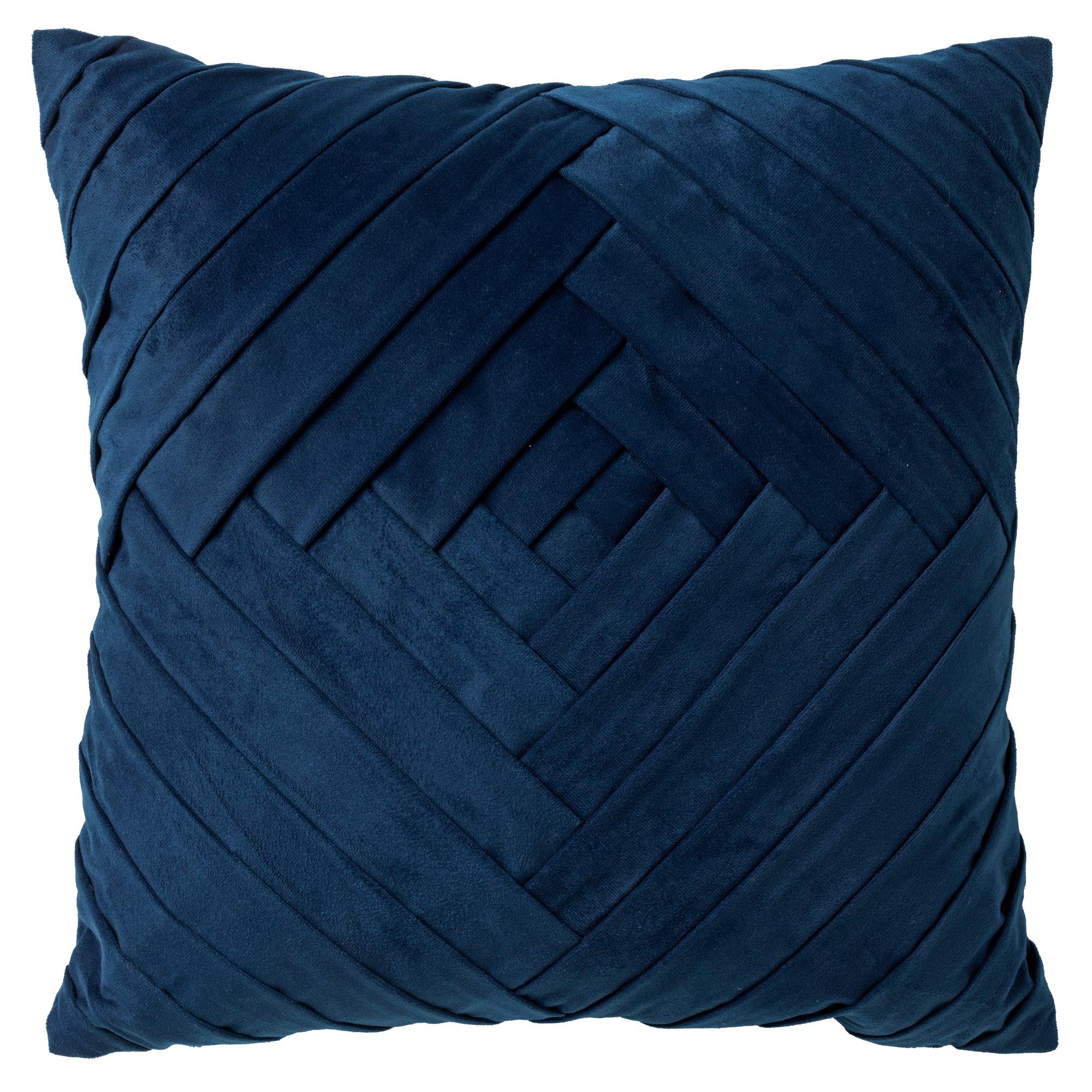 Housse de coussin en velours Bleu saphir 45x45