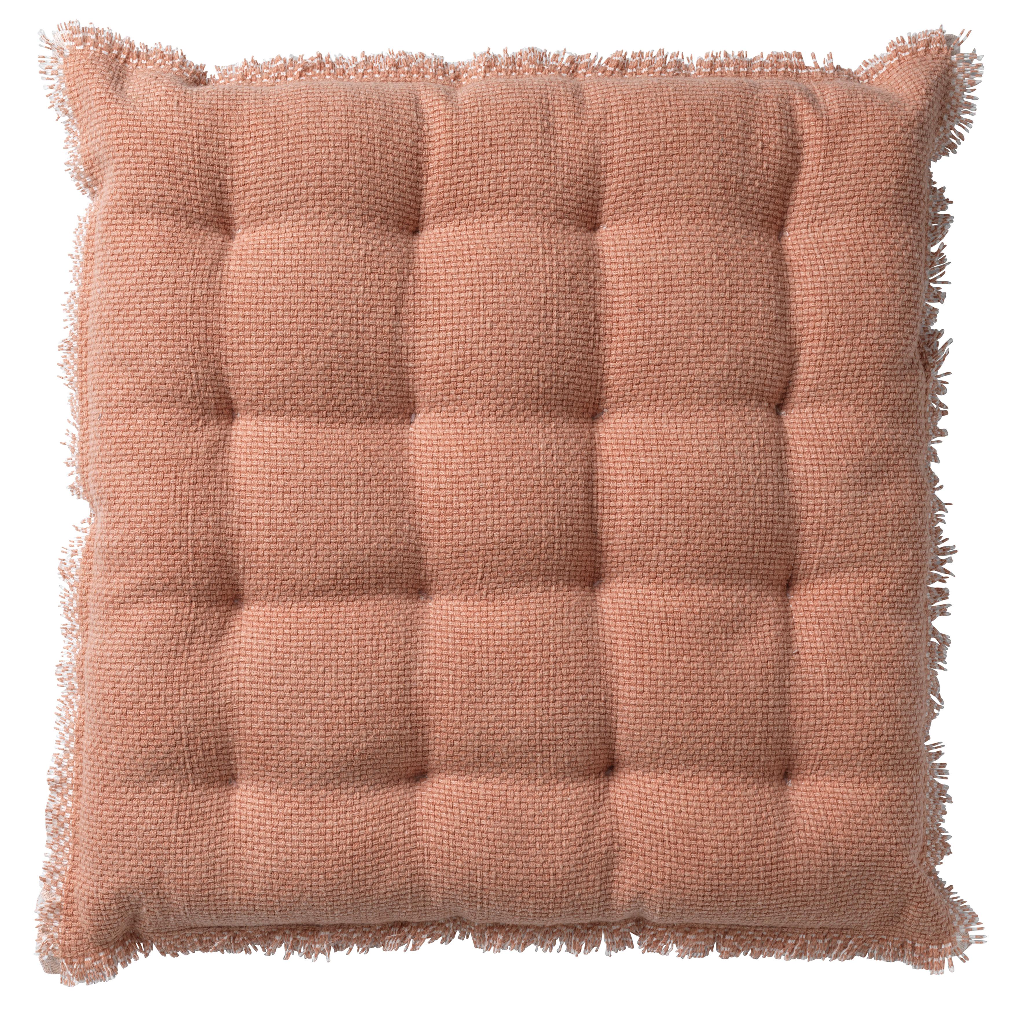 Coussin de sol en coton Rose saumon 40x40