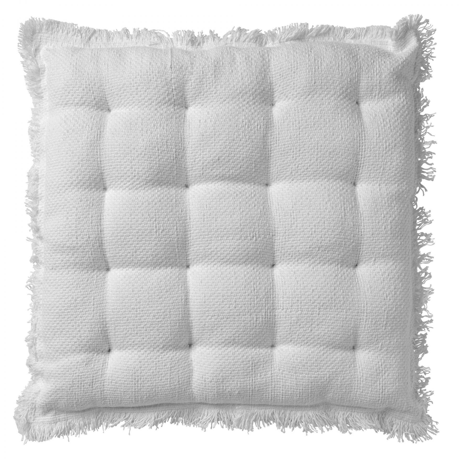 Coussin de sol en coton Blanc 40x40
