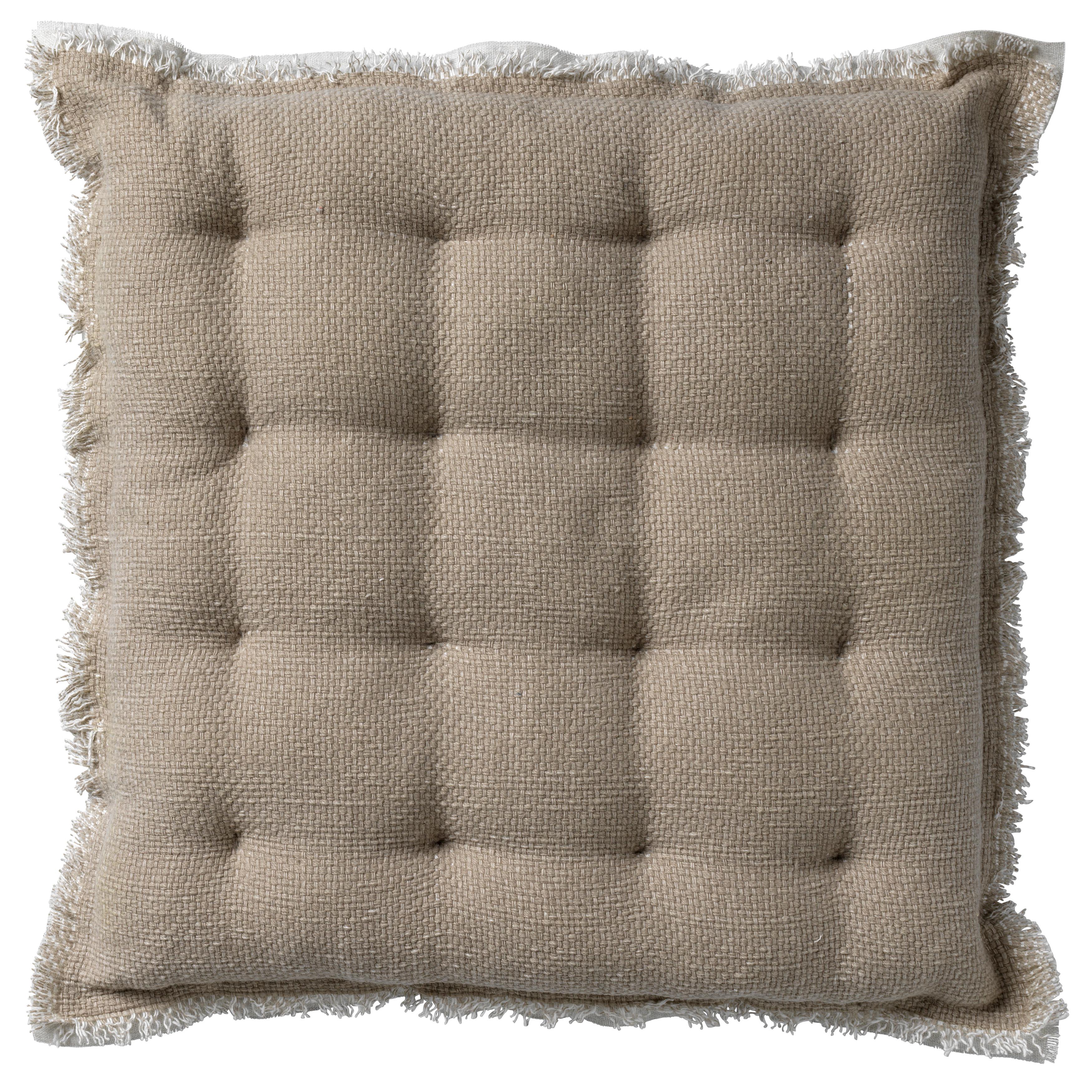 Coussin de sol en coton Beige 40x40 (photo)