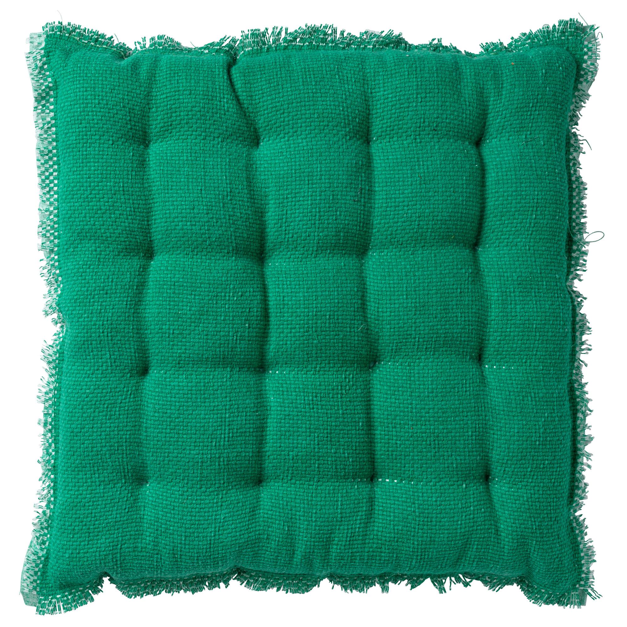 Coussin de sol en coton Emeraude 40x40