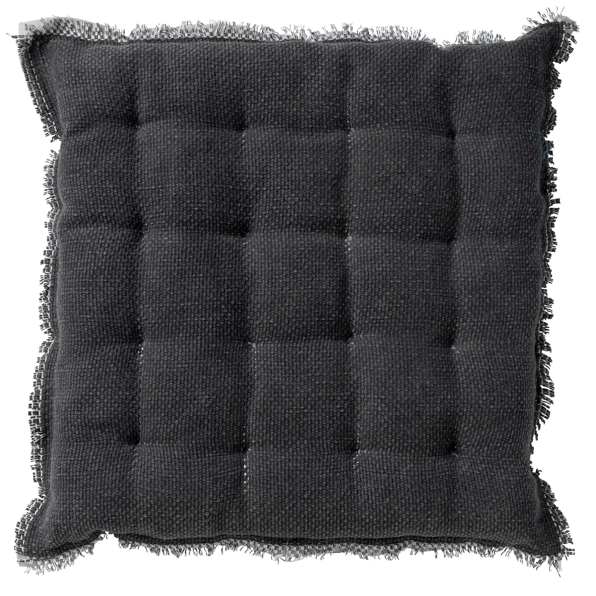 Coussin de sol en coton Antracite 40x40