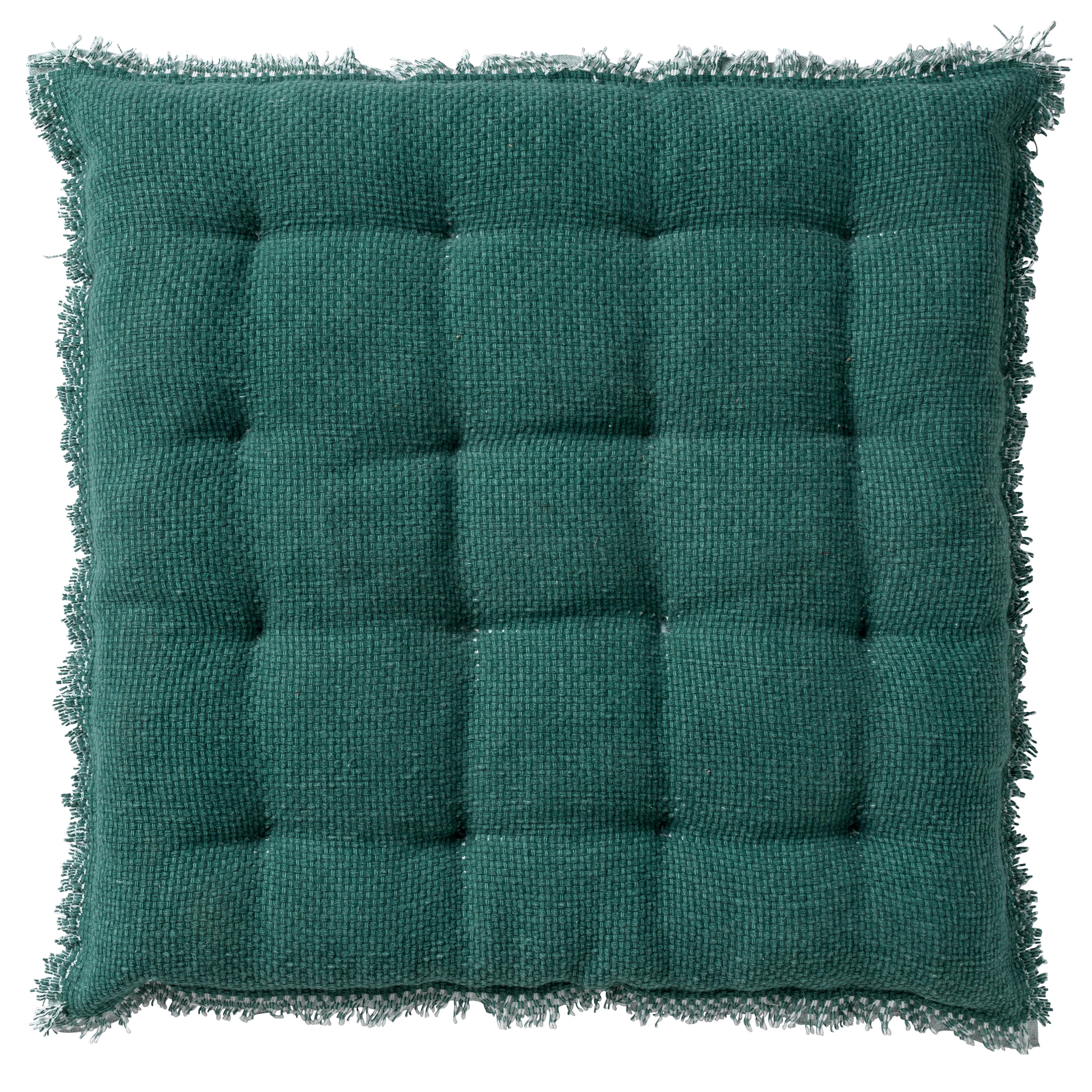 Coussin de sol en coton Vert pin 40x40