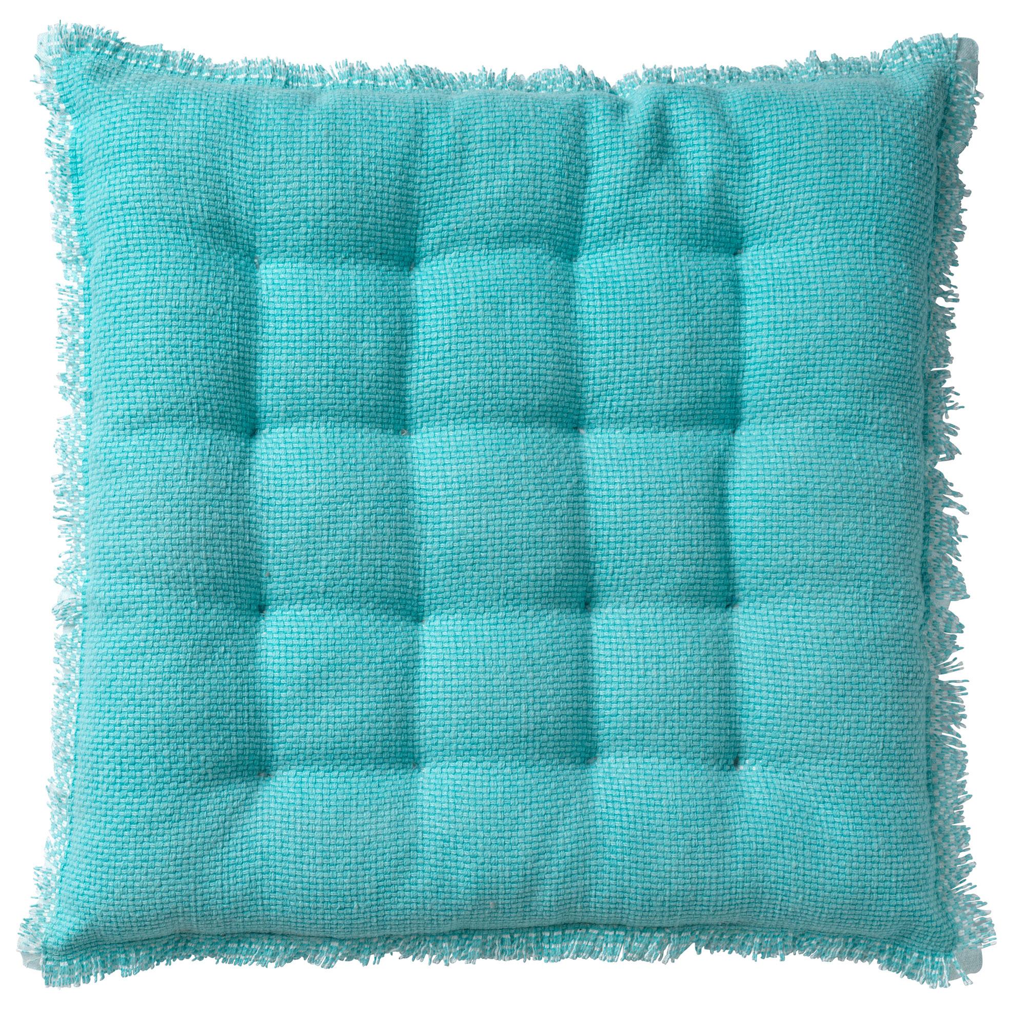 Coussin de sol en coton Turquoise 40x40