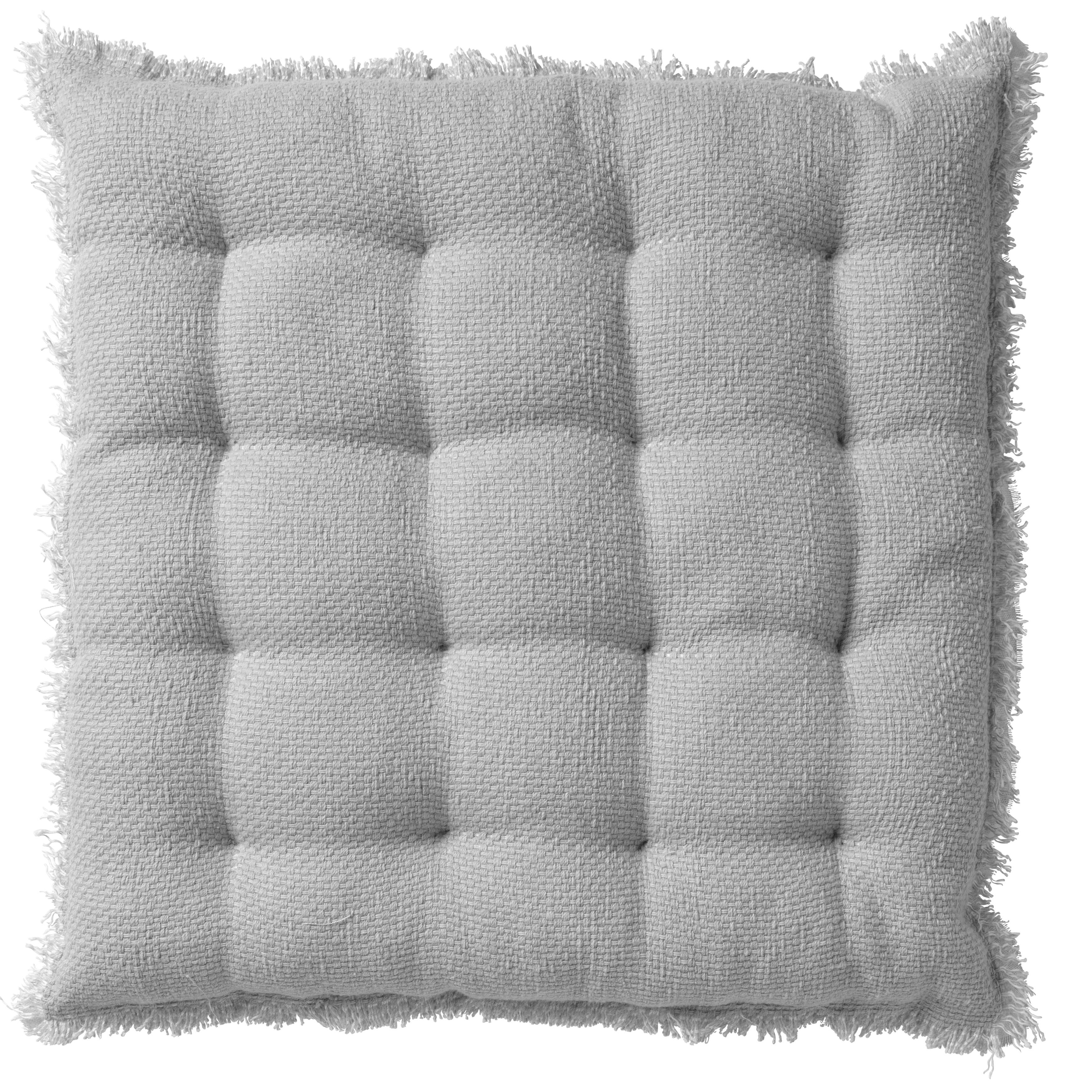 Coussin de sol en coton Gris souris 40x40