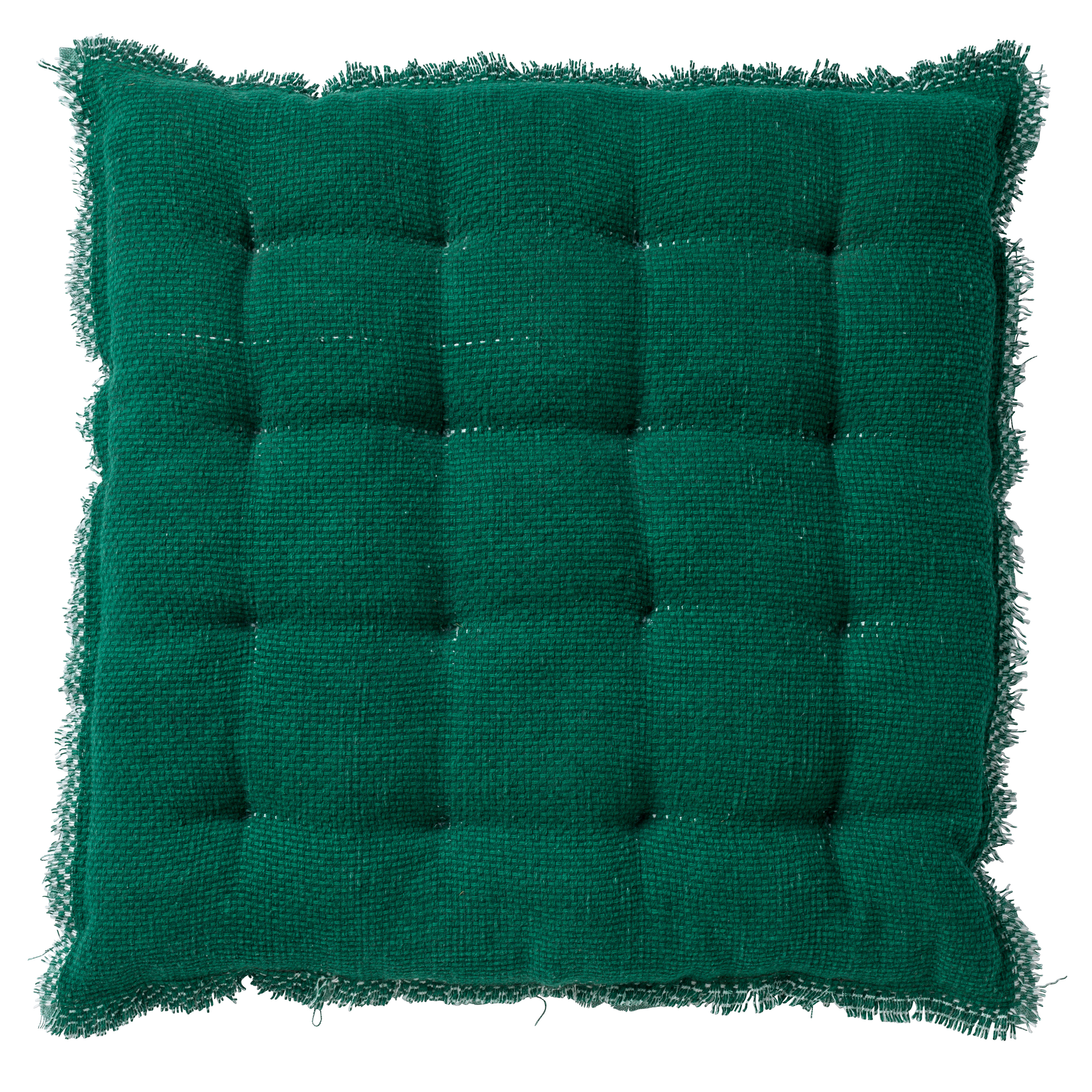 Coussin de sol en coton Vert 40x40