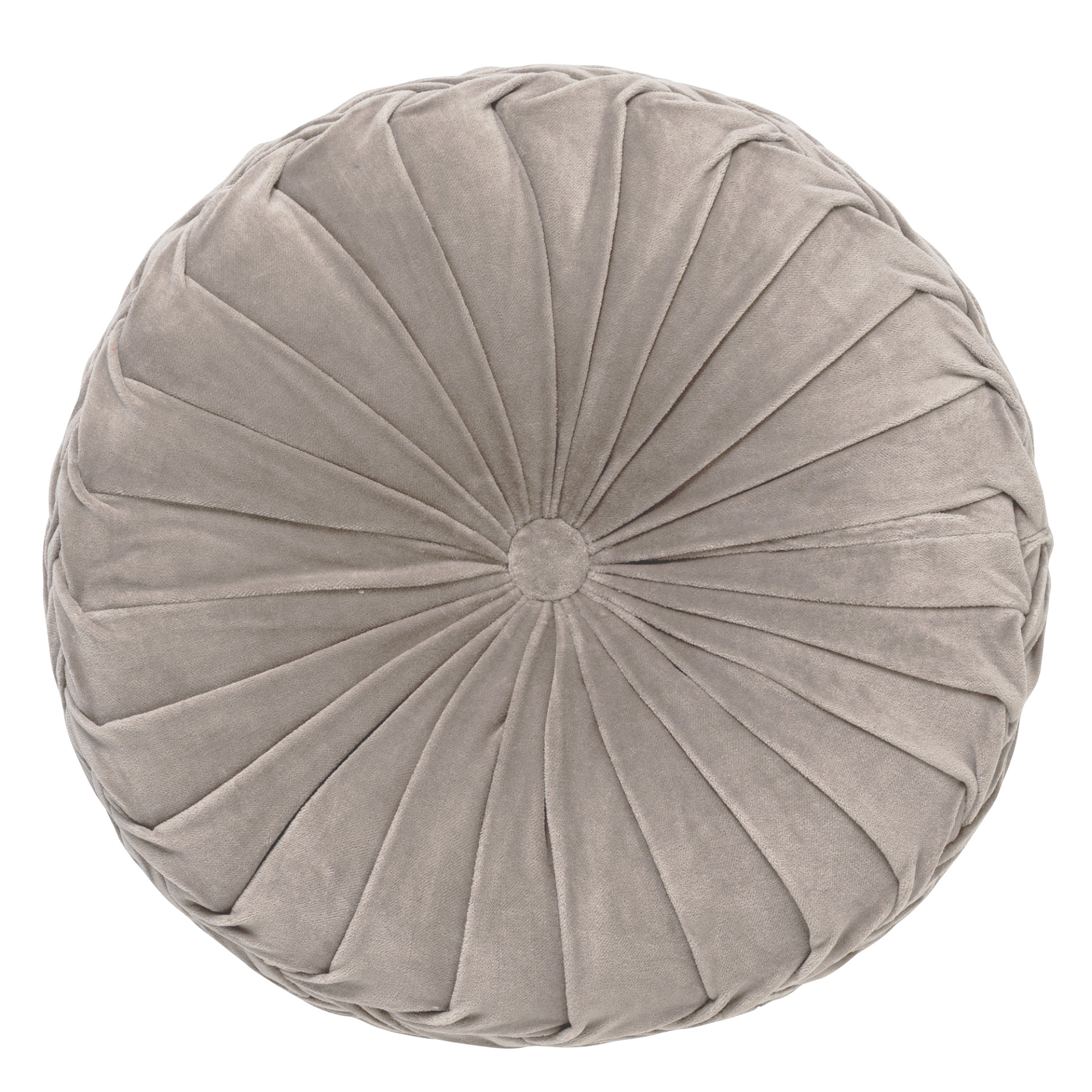 coussin rond en velours Taupe 40