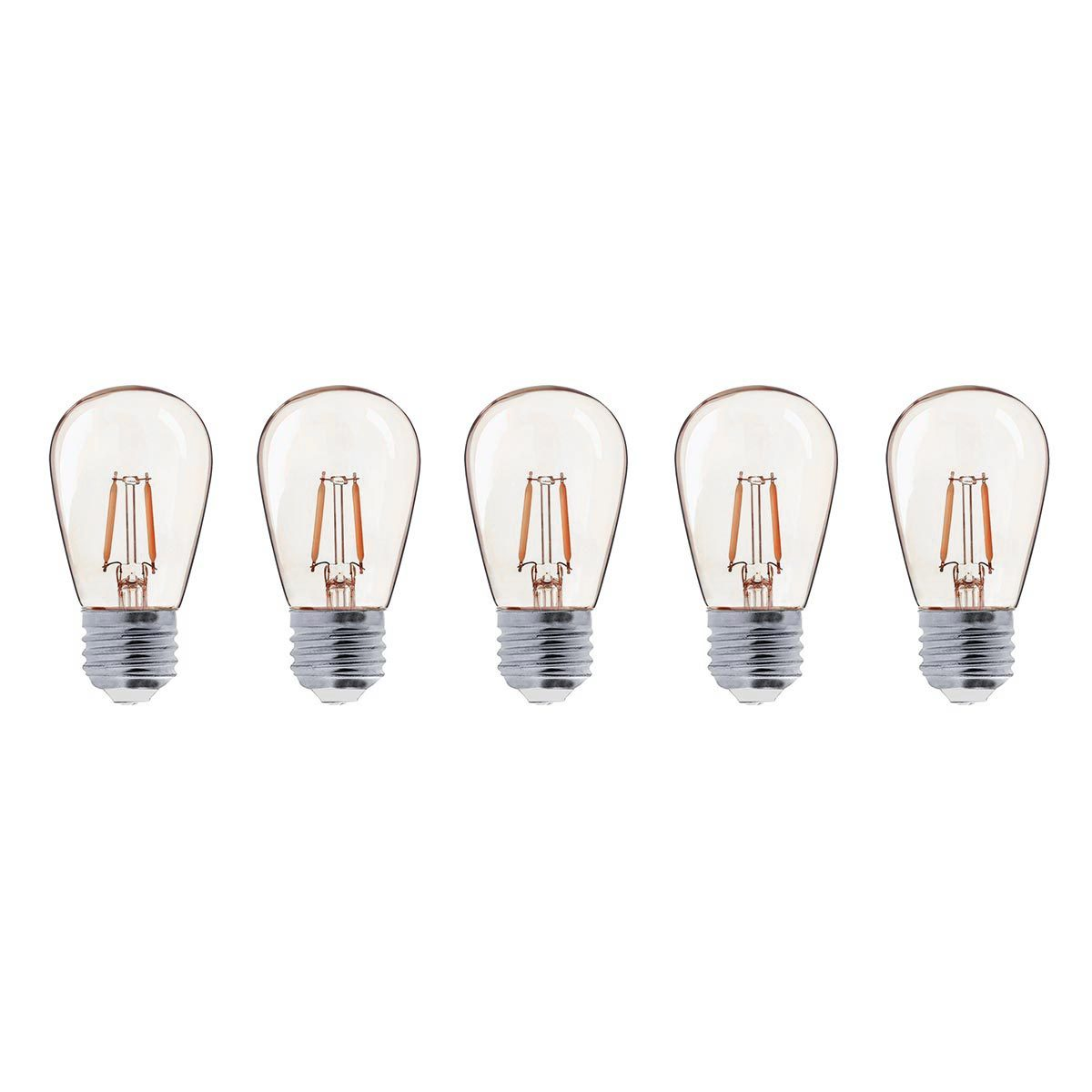 Lot de 5 ampoules LED plastique transparent H9cm