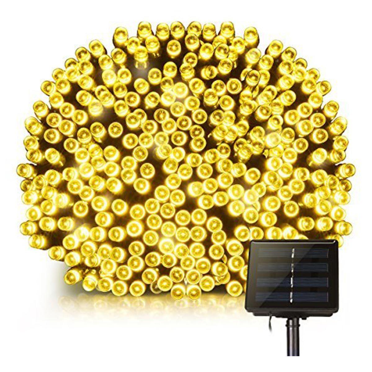 Guirlande solaire 400 leds plastique noir 33.90m
