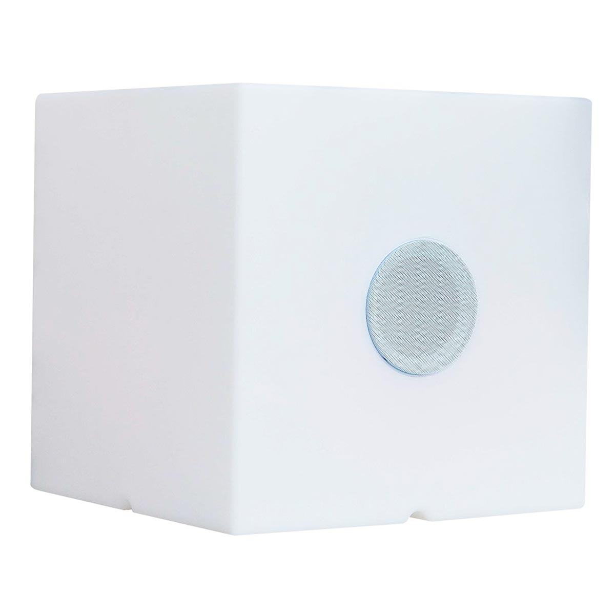 Cube enceinte bluetooth plastique blanc H40cm