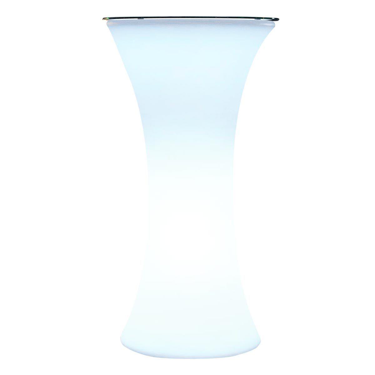 BAR PARTY-Comptoir de bar lumineux plastique blanc H110cm