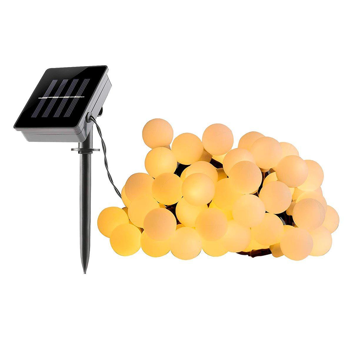 Guirlande de jardin solaire plastique blanc 6.90m