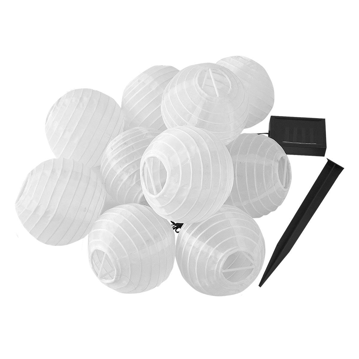 Guirlande lumineuse solaire nylon blanc 4m