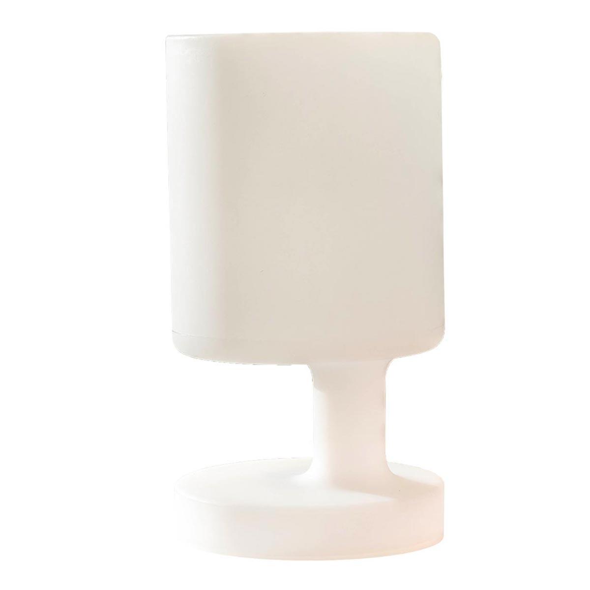 BABY-Lampe de table sans fil plastique blanc H28cm