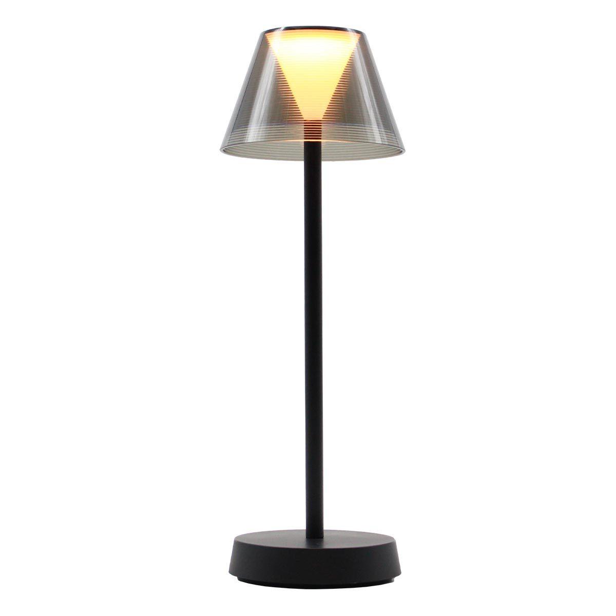 BEVERLY BLACK - Lampe de table sans fil LED blanc chaud H34cm